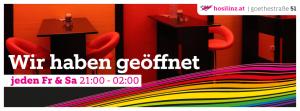 Freitag: HOSI Linz hat geöffnet! @ HOSI Linz | Linz | Oberösterreich | Österreich