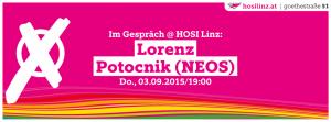 Im Gespräch: Lorenz Potocnik (NEOS) @ HOSI Linz | Linz | Oberösterreich | Österreich