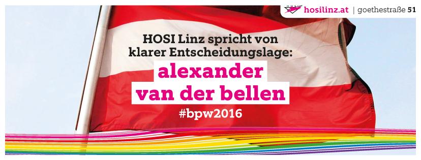 HOSI Linz: Für Van der Bellen