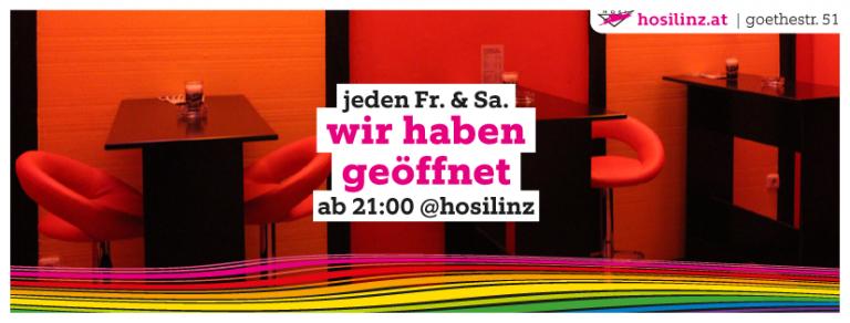HOSI Linz hat geöffnet!
