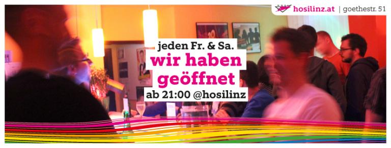 Samstag: HOSI Linz hat geöffnet