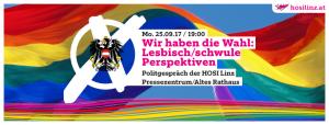 Wir haben die Wahl: Lesbisch/schwule Perspektiven ab 2017 @ Pressezentrum des Alten Rathauses Linz | Linz | Oberösterreich | Österreich