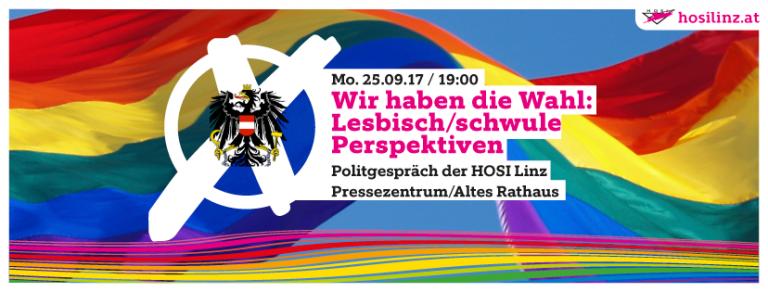 Wir haben die Wahl: Lesbisch/schwule Perspektiven ab 2017