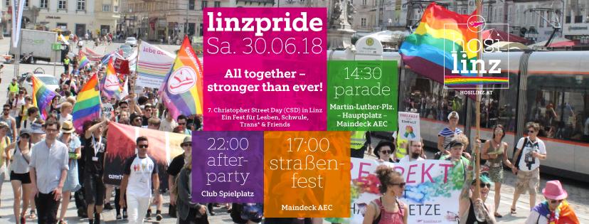 Linzpride 2018 – Parade & Straßenfest