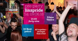 Pre-Party LINZPRIDE 2018 @ Queer Bar forty nine | Linz | Oberösterreich | Österreich