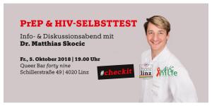 Infoabend: PrEP & HIV-Selbsttest @ Queer Bar forty nine | Linz | Oberösterreich | Österreich