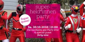 Superheld*innenparty @ Queer Bar forty nine | Linz | Oberösterreich | Österreich