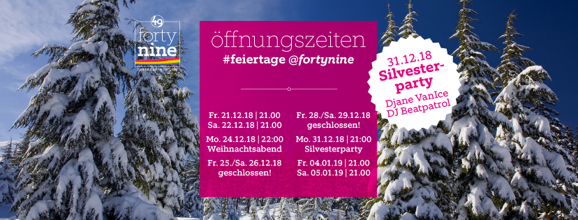 Öffnungszeiten Feiertage 2018-2019
