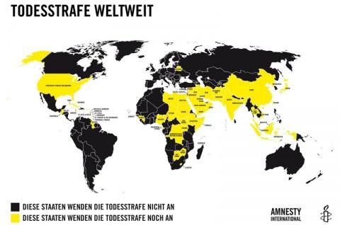 Todesstrafe - grafik Weltweit (Amnesty International)