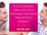 Ehe für alle – Partnerschaft für alle!