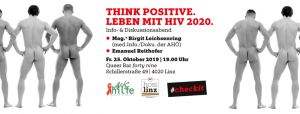 """Think Positive. Leben mit HIV 2020."" @ Queerbar forty nine"