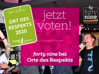"""Jetzt voten – forty nine bei """"Orte des Respekts"""""""